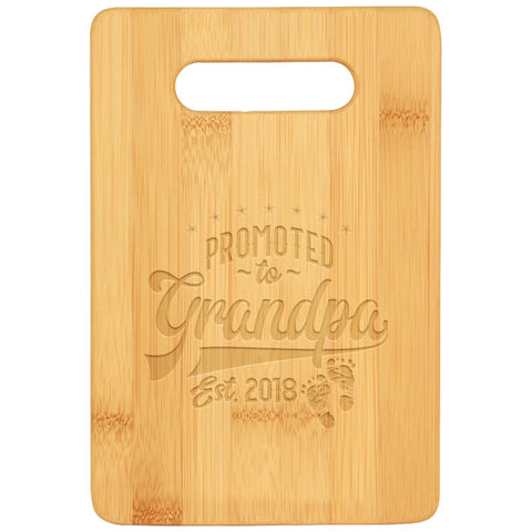 Promoted to Grandpa Cutting Board - Bamboo Promoted to Grandpa, 3 sizes