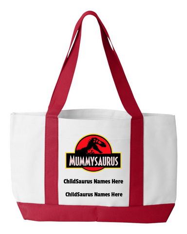 Mummysaurus Personalized Tote Bag