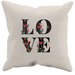 Floral Love Pillow Case