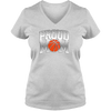 Image of Proud Basketball Mom Ladies V Neck Tee