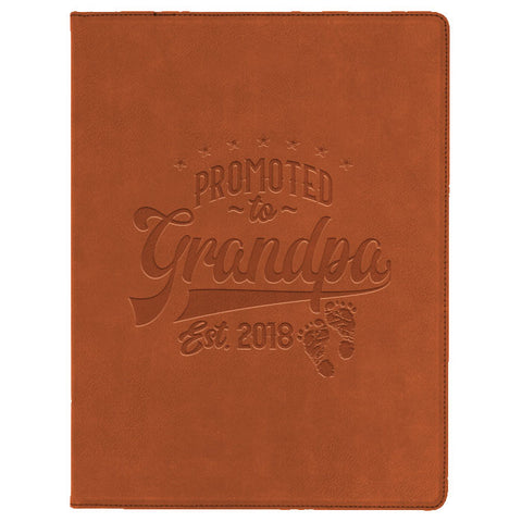 Promoted to Grandpa Engraved Portfolio
