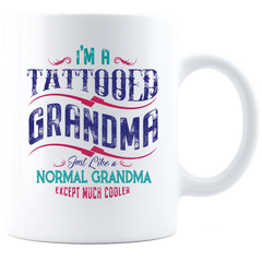 I'm a Tattooed Grandma White Mug