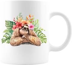 "Sloth ""I See You"" white coffee mug Great for lovers of sloth wisdom and sloths everywhere. Great gift for any occasion or treat yourself 11 oz  High-quality white ceramic mug Microwave and dishwasher safe Measures 3.75"" tall"