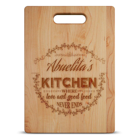 Abuelitas Kitchen- Custom Cutting Board - Maple,