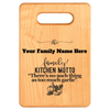 "Image of ""Too Much Garlic""- Personalized Cutting Board -Maple"