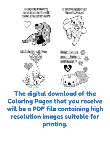 Raining Cats and Dogs Coloring Pages Printables