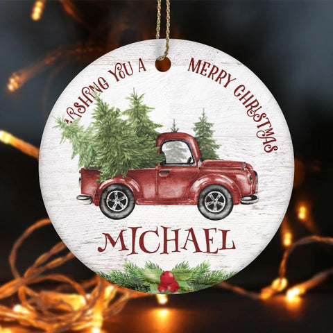 Christmas Wish  Ornament Personalized