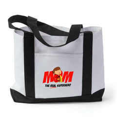Mom- The Real Superhero Tote Bag