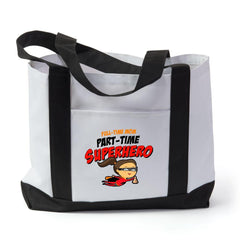 Part Time Superhero Tote Bag