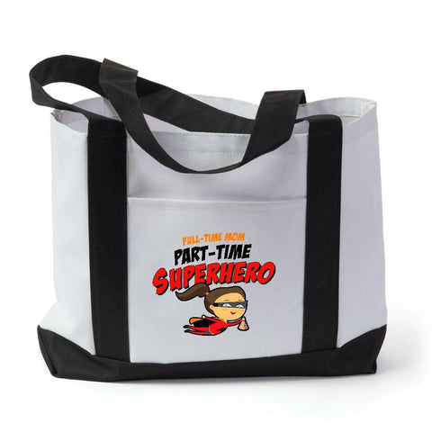 Part Time Superhero Tote Bag - Sweet Dragon Mama