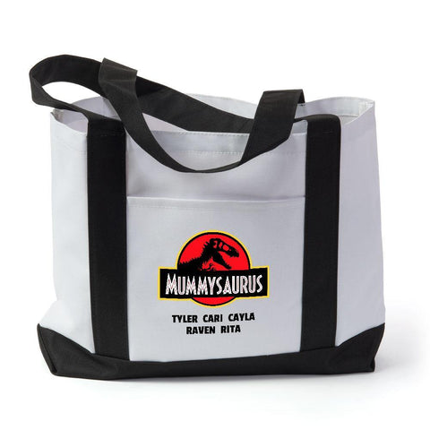 Mummysaurus Personalized Tote Bag - Sweet Dragon Mama