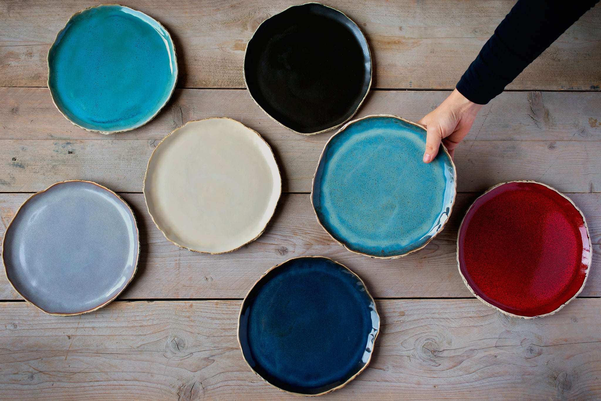 Handmade Ceramic Plates Pottery Plates For Your Table Kari Ceramics