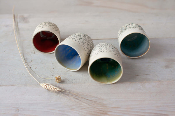 Handmade ceramic Tumblers Wheel thrown Tumblers