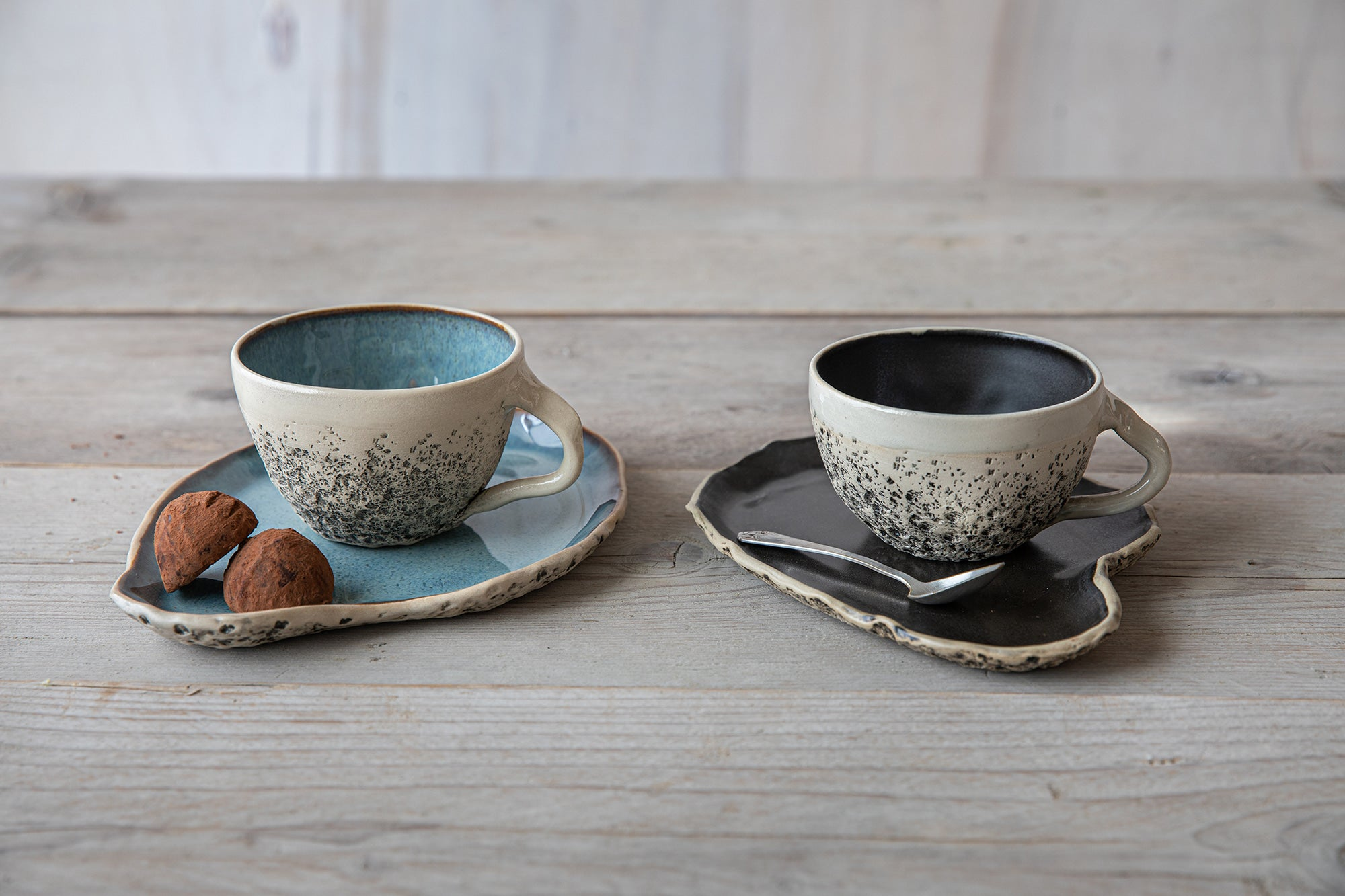 Tea -and cappuccino cups with saucer