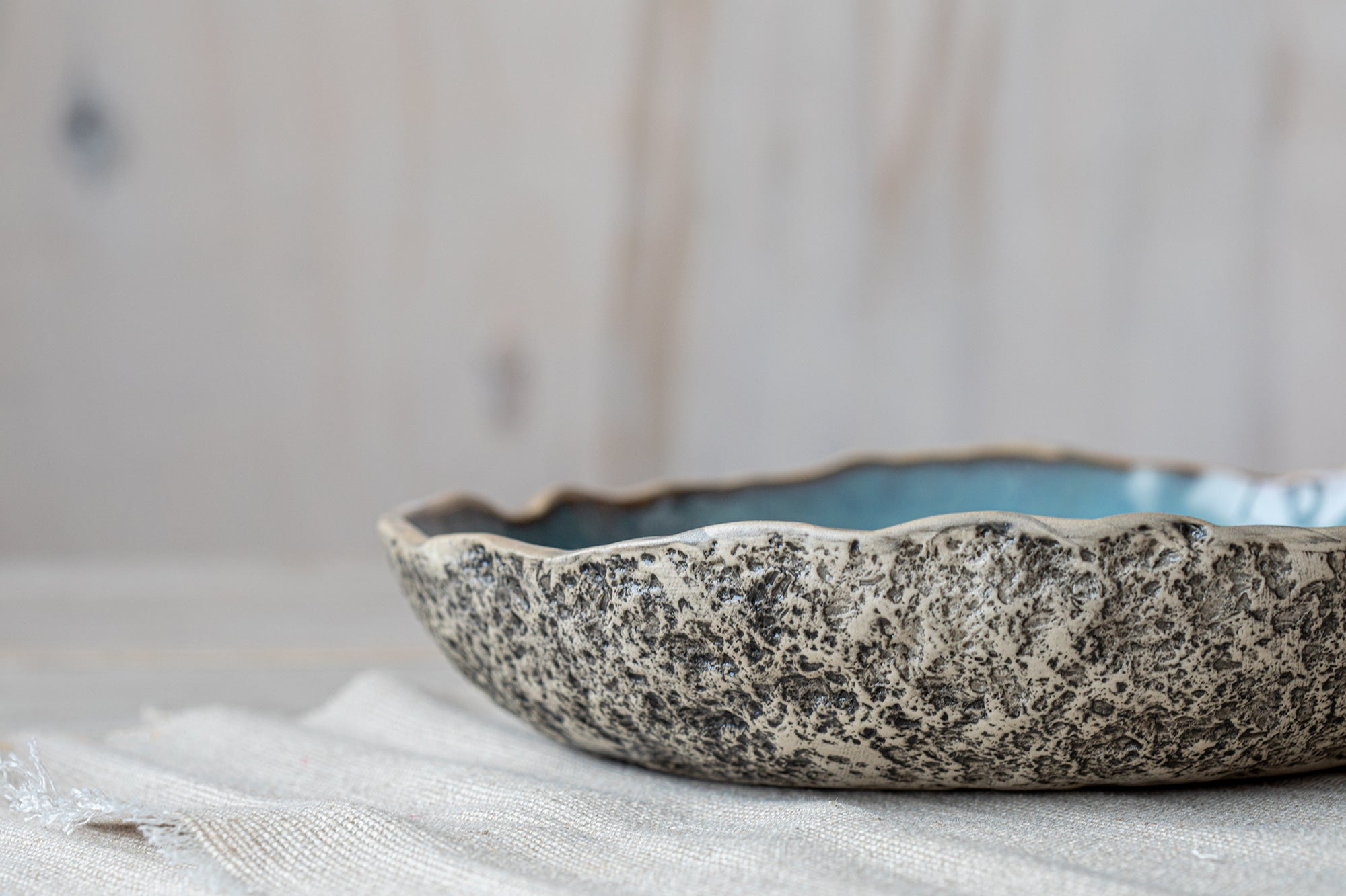 Low Ceramic Serving Bowl