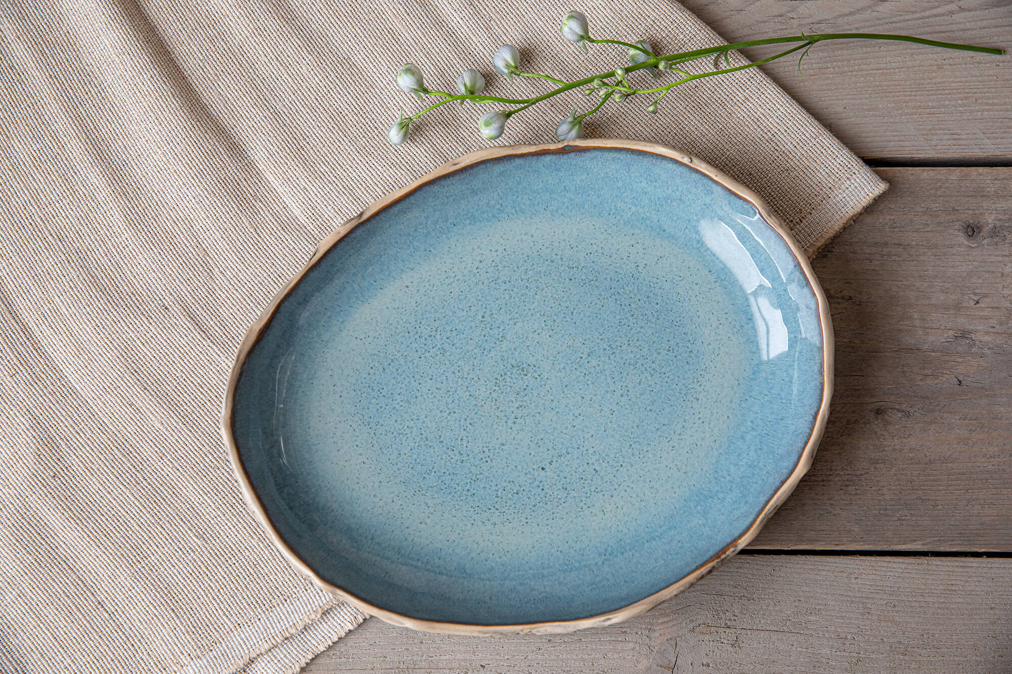 Ceramic large oval plates