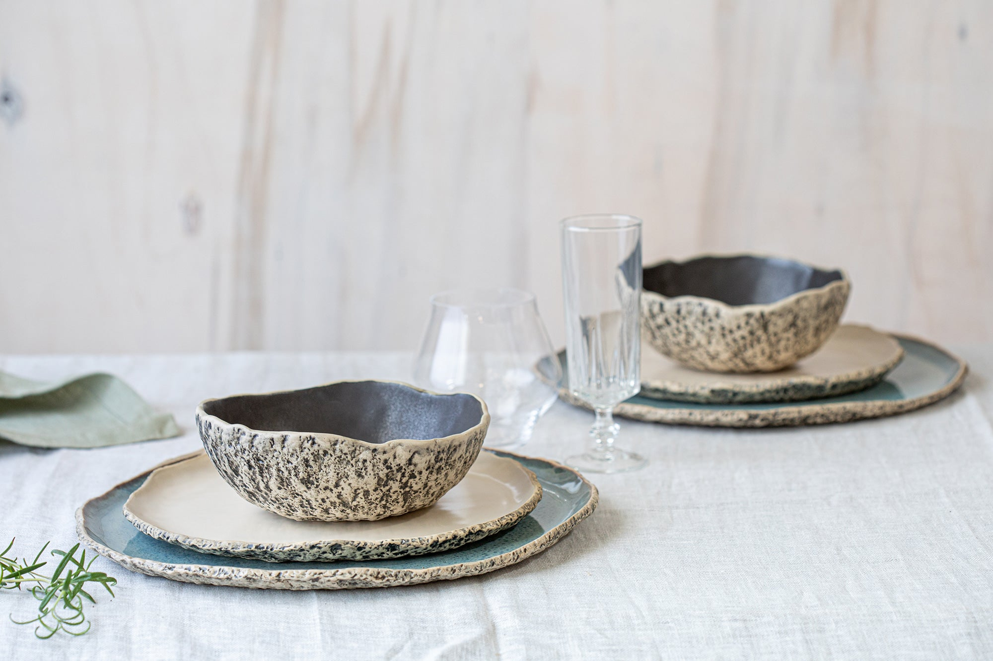 2 person ceramic dinner sets