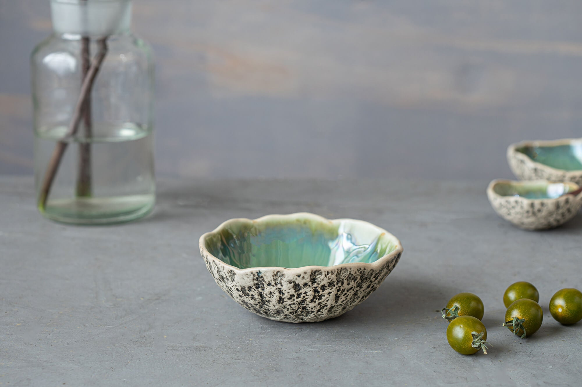 Unique ceramic dessert bowl
