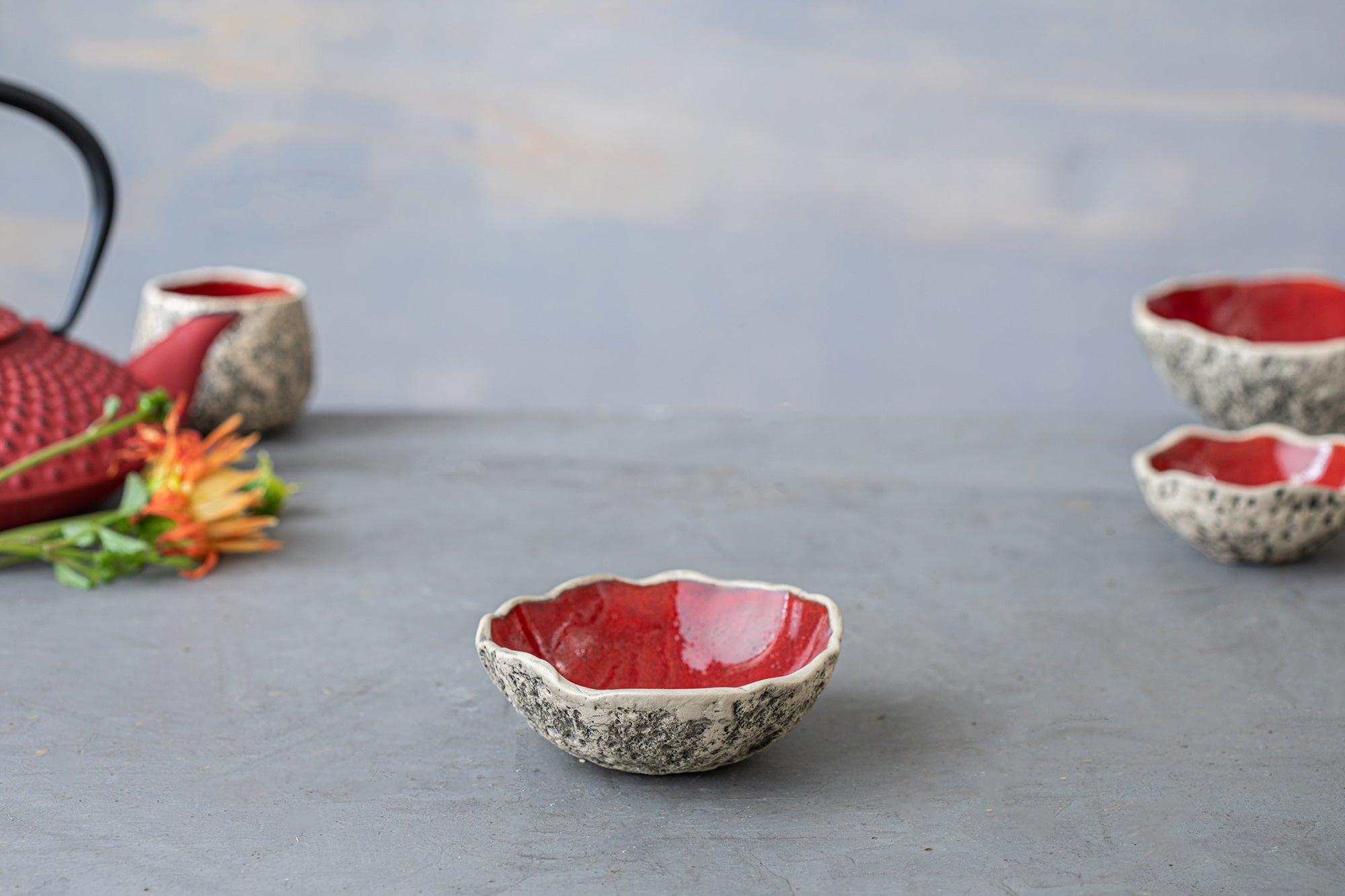 Handmade Colorful Tapas Bowls