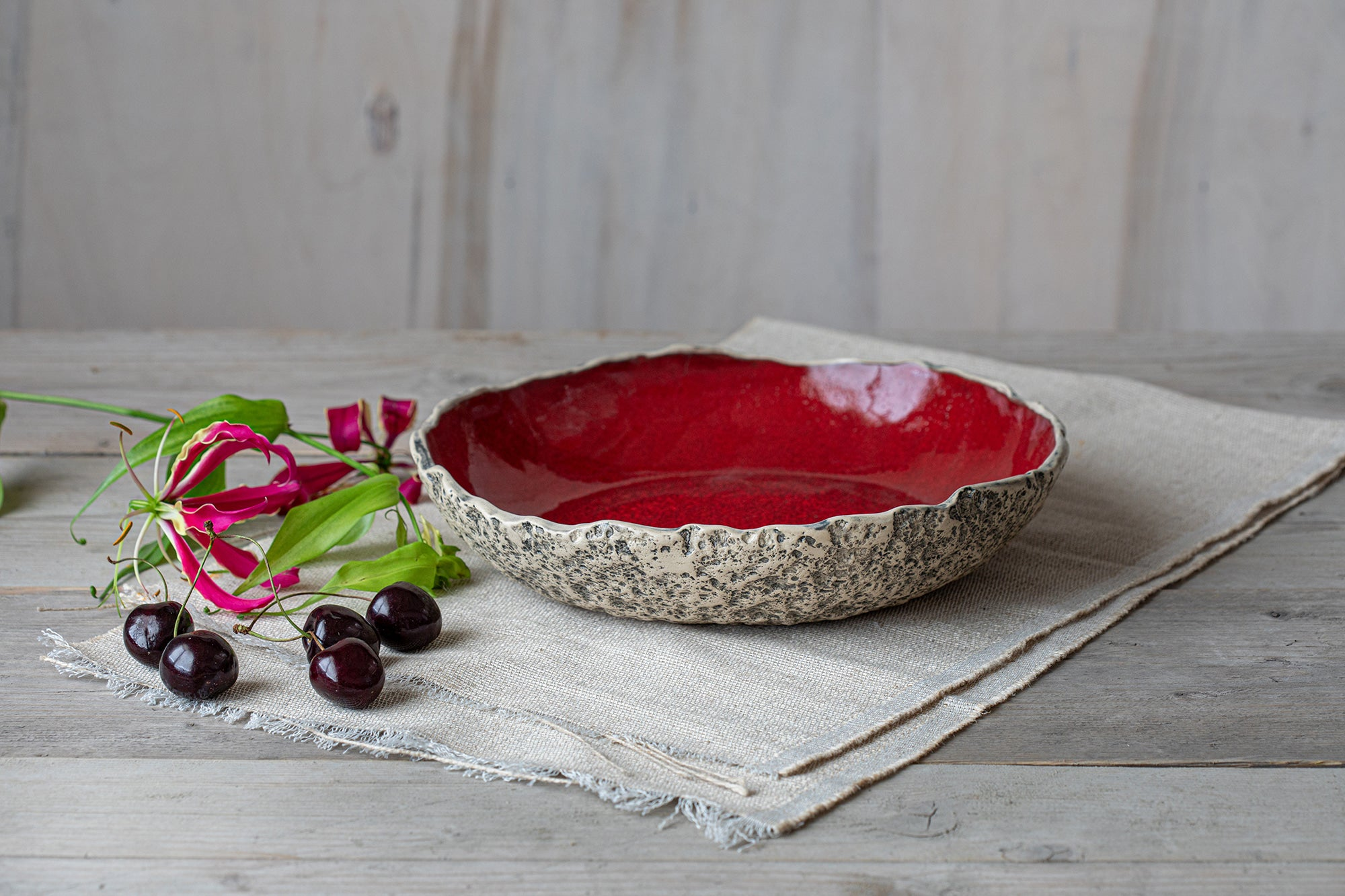 Unique handmade pottery Serving dish