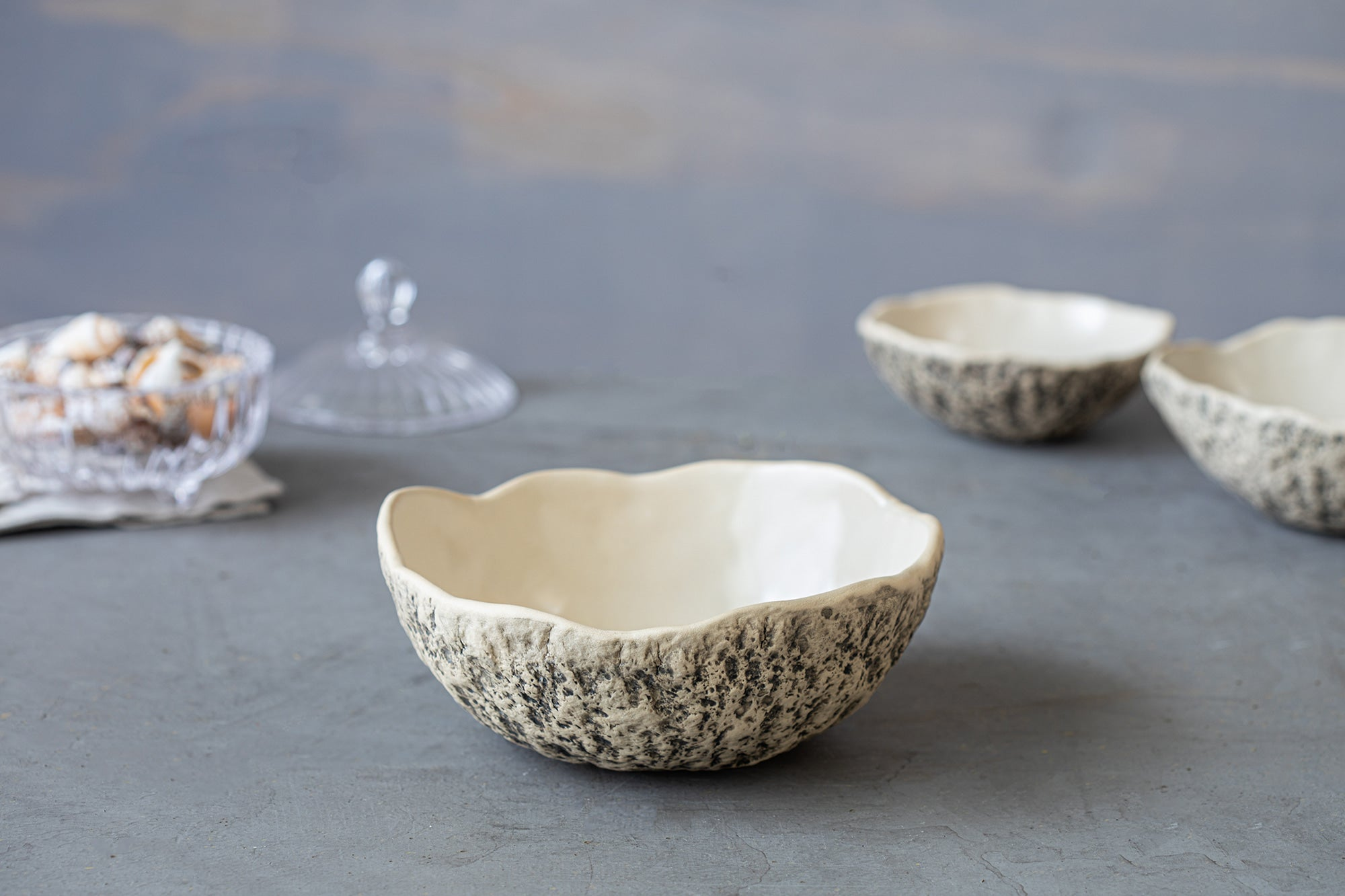 Handmade pottery soup bowls