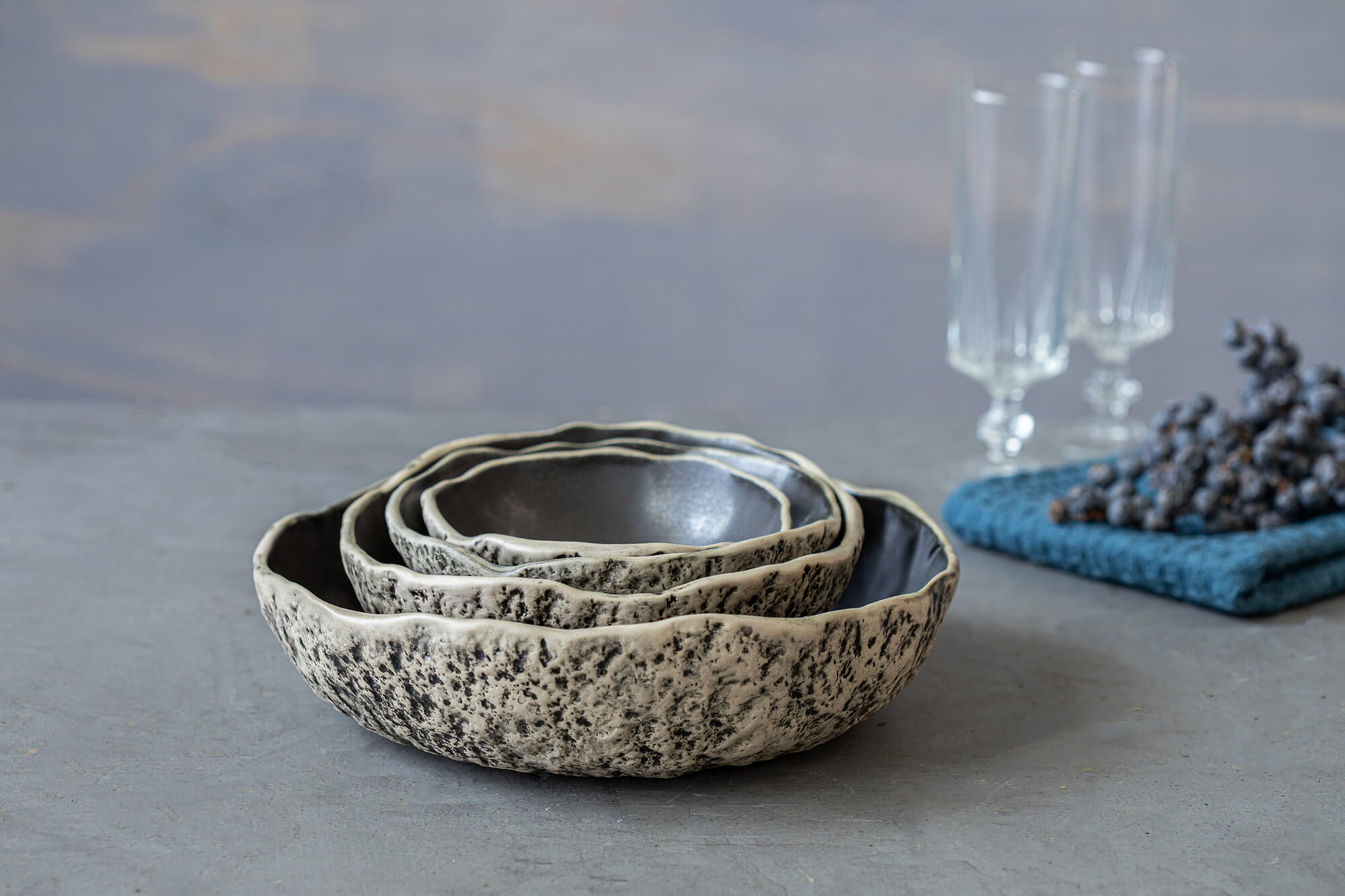 Set of four nesting bowls