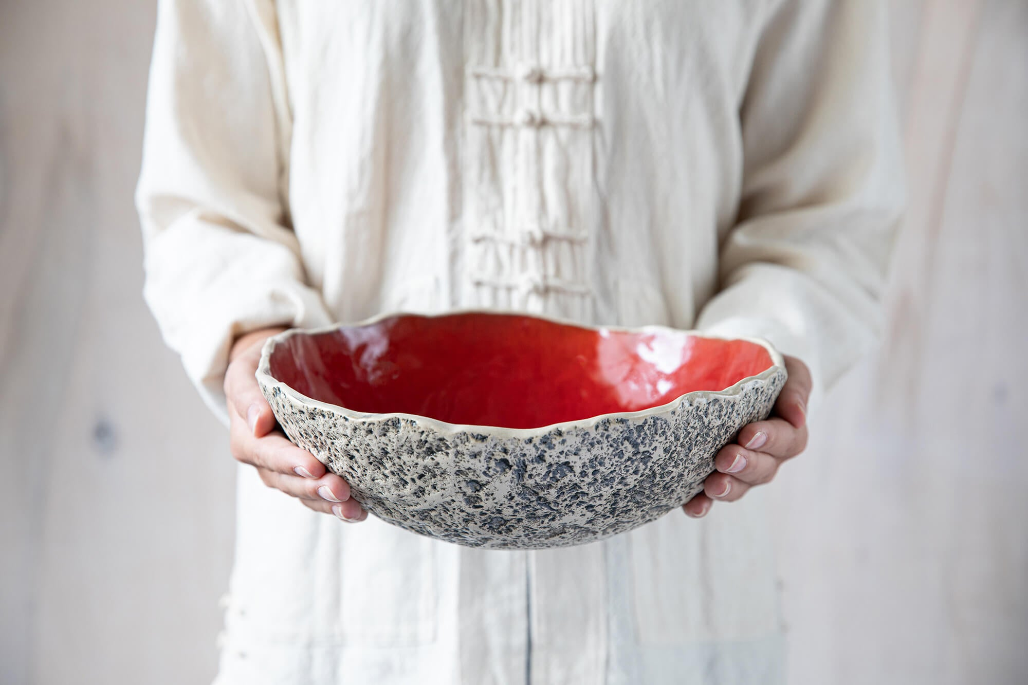 Handcrafted bowls Handmade pottery serving bowls