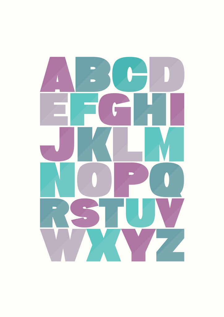 Alphabet - purple and green