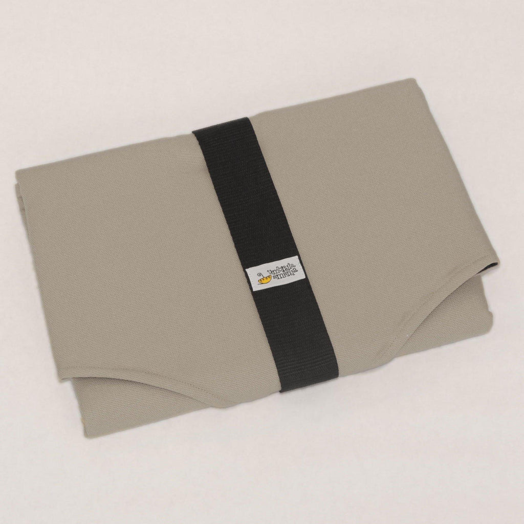 Waterproof portable changing mat with storage - grey
