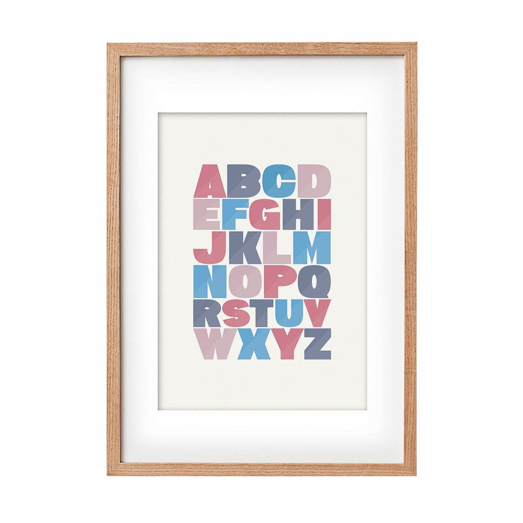 Print Alphabet - red and blue