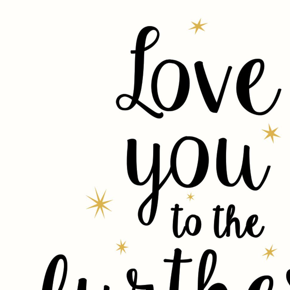 Print Love you to the furthest galaxy and back - Umbrella Amarela