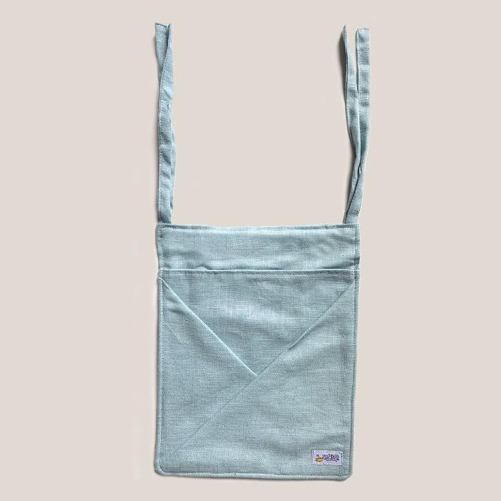 Hanging Linen Storage with Pockets MINI • sea blue