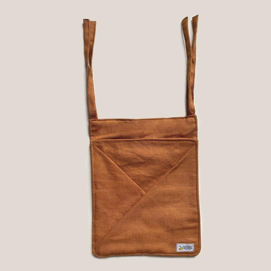 Hanging Linen Storage with Pockets MINI • cognac