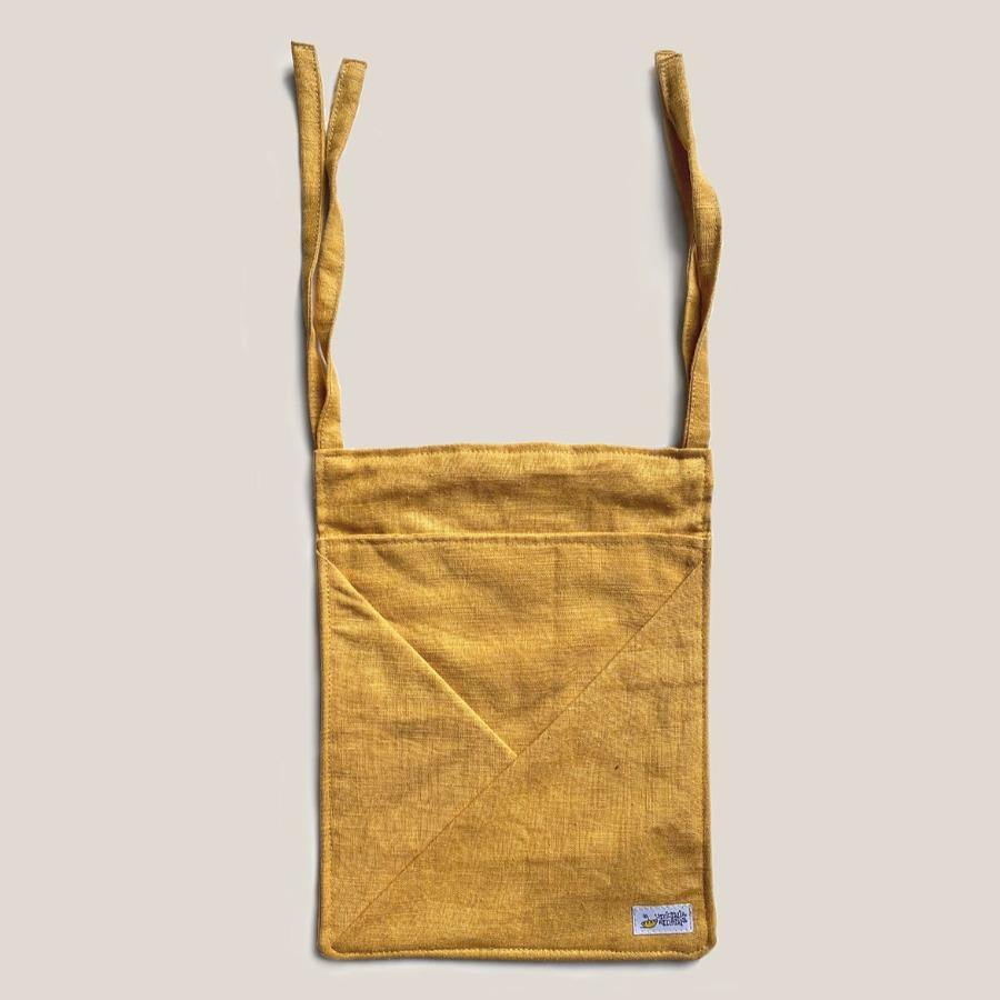 Hanging Linen Storage with Pockets MINI • mustard