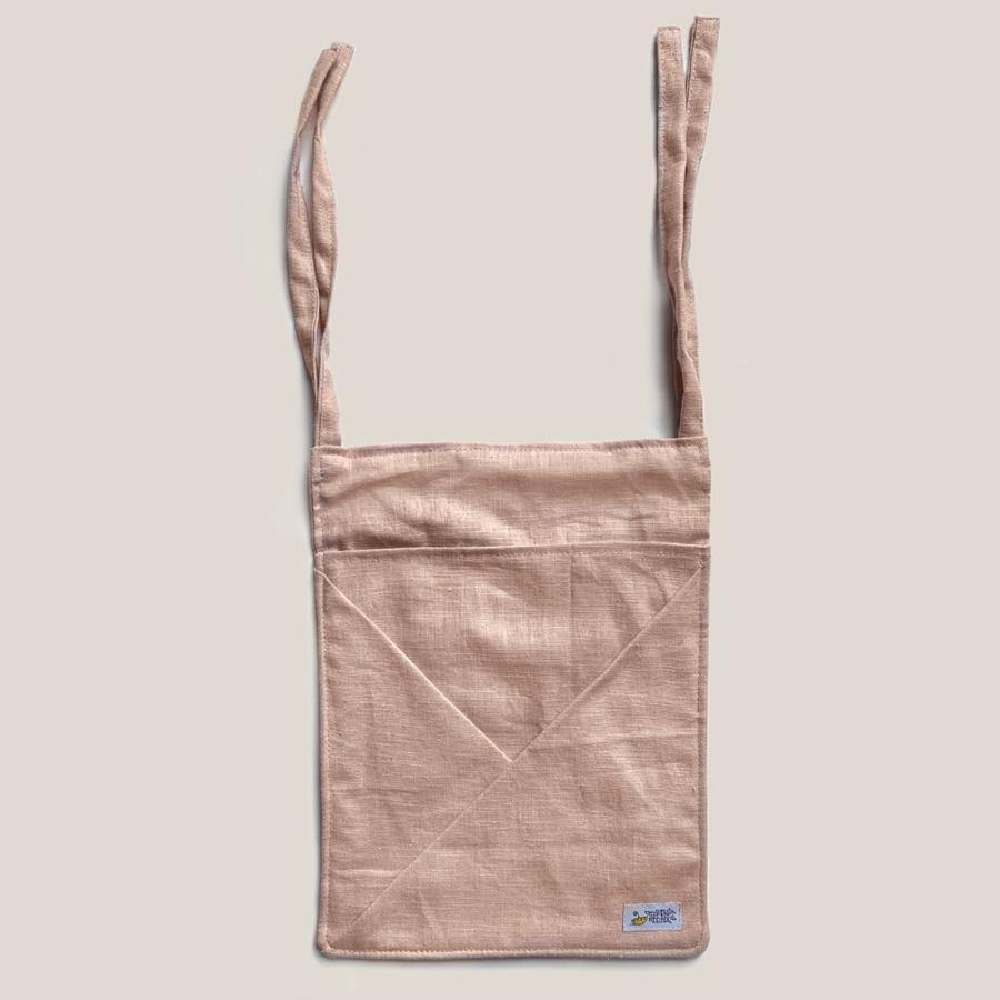 Hanging Linen Storage with Pockets MINI • nude pink - Umbrella Amarela