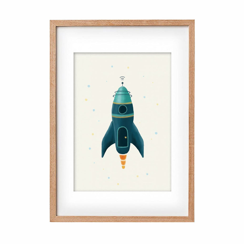 Print Rocket - Jet - Umbrella Amarela