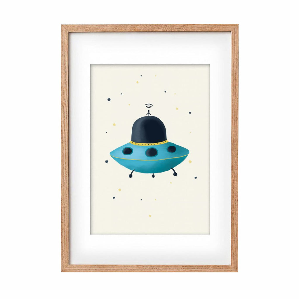Print UFO • Blue - Umbrella Amarela