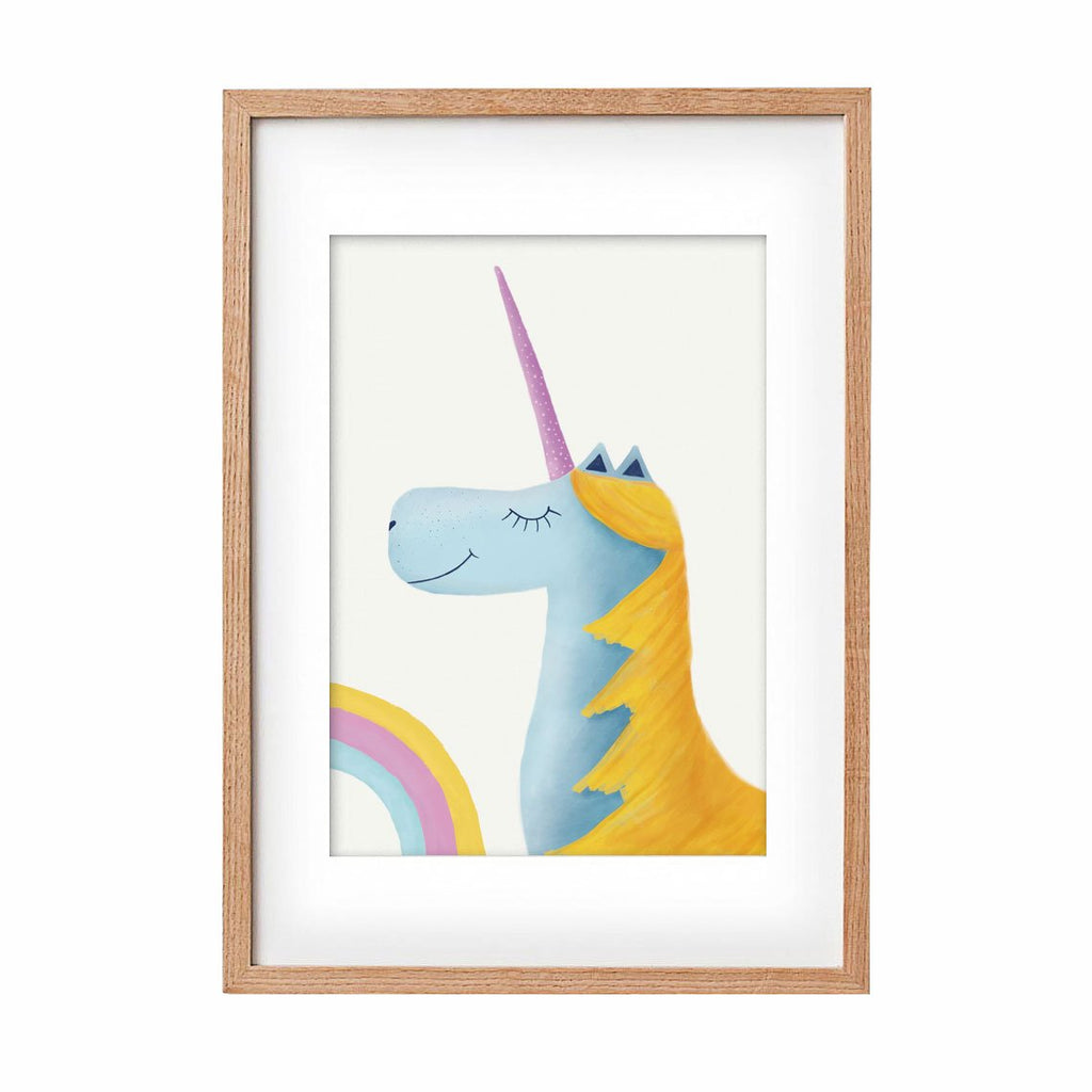 Unicorn - blue & yellow