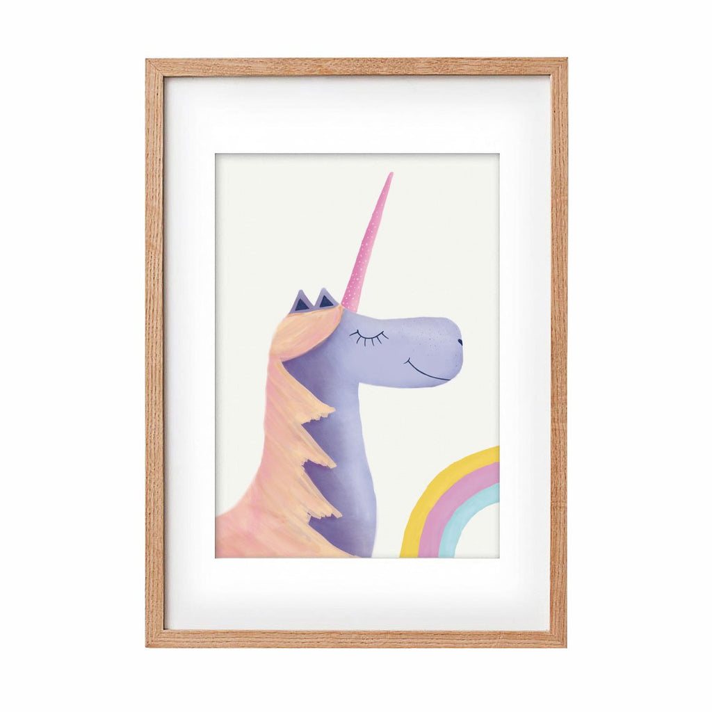 Unicorn - purple & orange