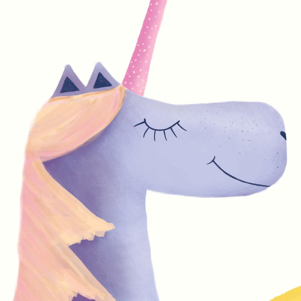 Print Unicorn - purple & orange - Umbrella Amarela