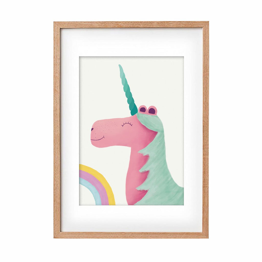 Print Unicorn - pink & green