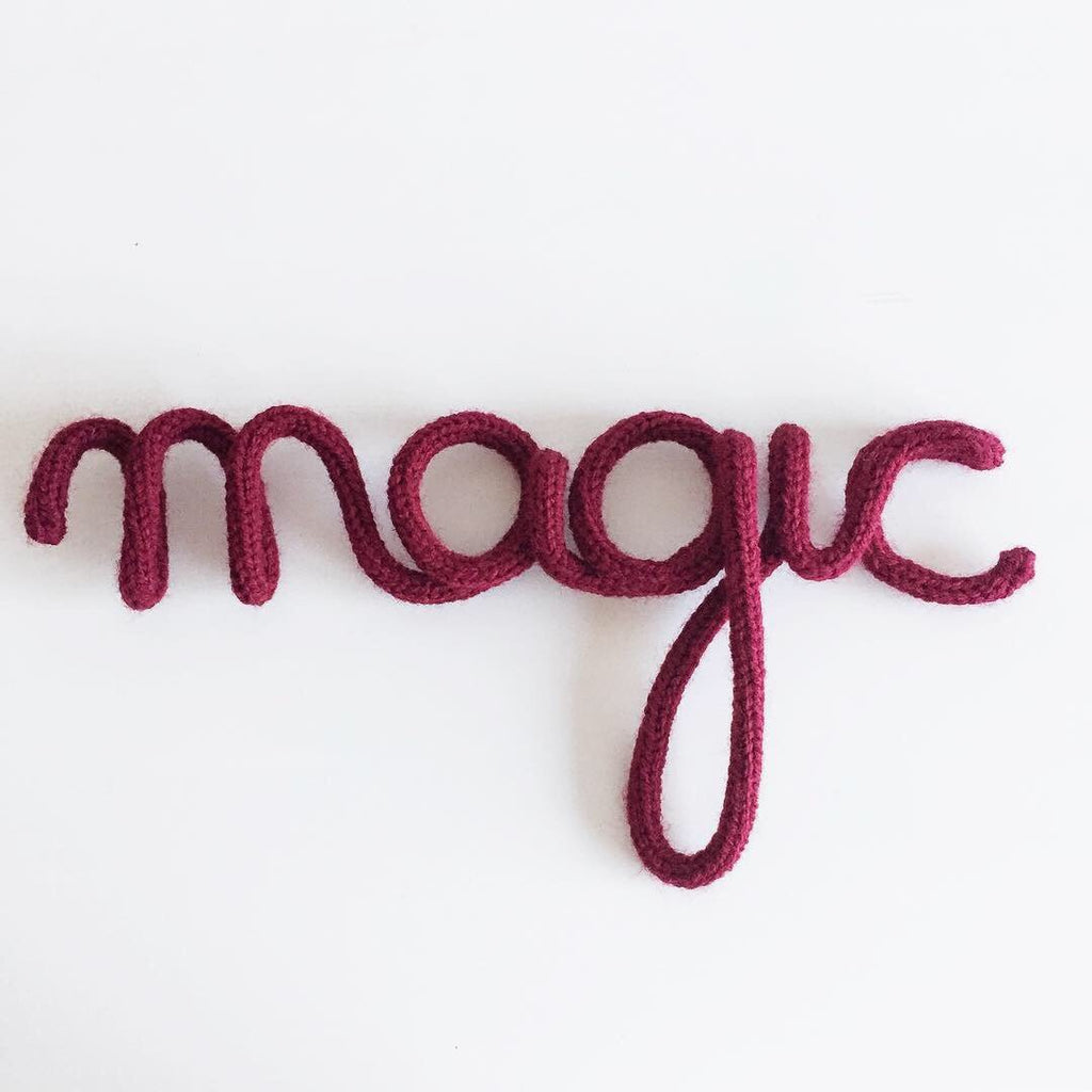 Ready-Made knitted words - 40% off - Umbrella Amarela