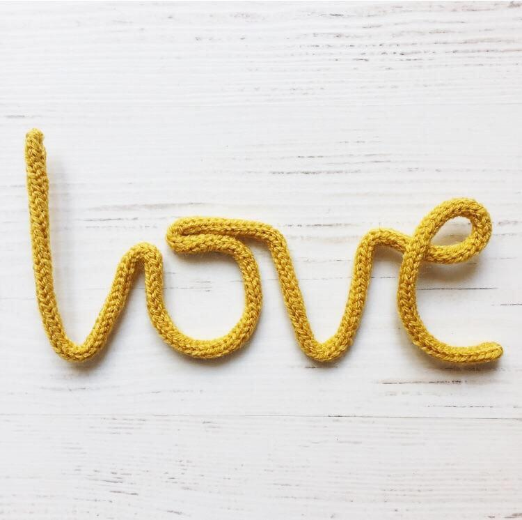Knitted word  - Love