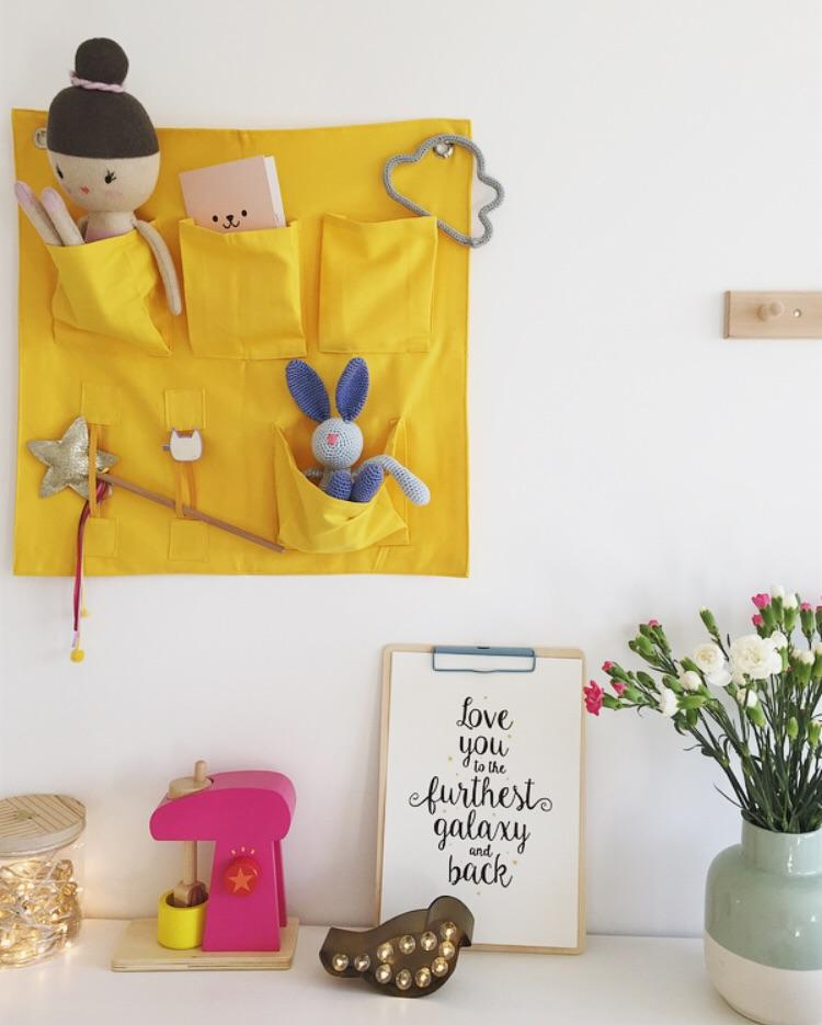 Wall Pockets storage solution - yellow