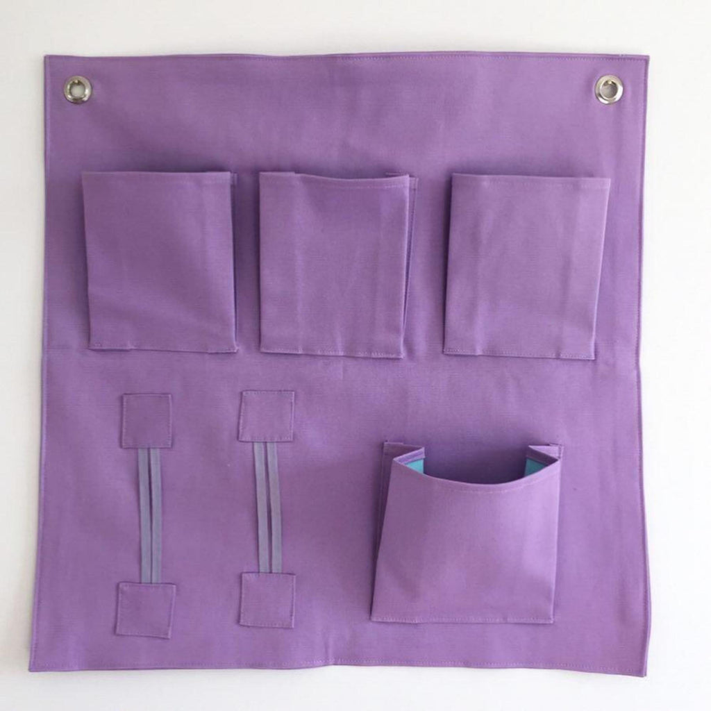 Wall Pockets storage solution - lilac / purple