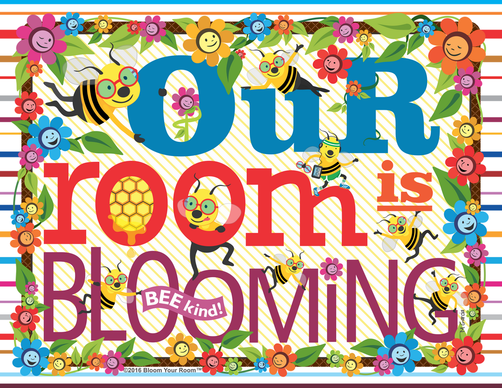 """Our Room Is Blooming"" (printable 8.5"" x 11"" jpeg, license to print 40 copies)"