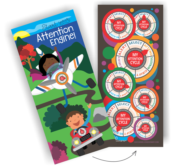 Attention Engine™ Bookmark Combo Pack for 25 Students
