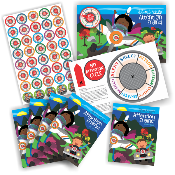 Attention Engine™ Sticker Combo Pack for 5 Students