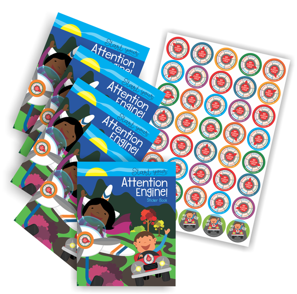 Attention Engine™ Sticker Pack for 5 Students