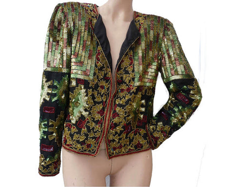 adrianna papell beaded evening jacket